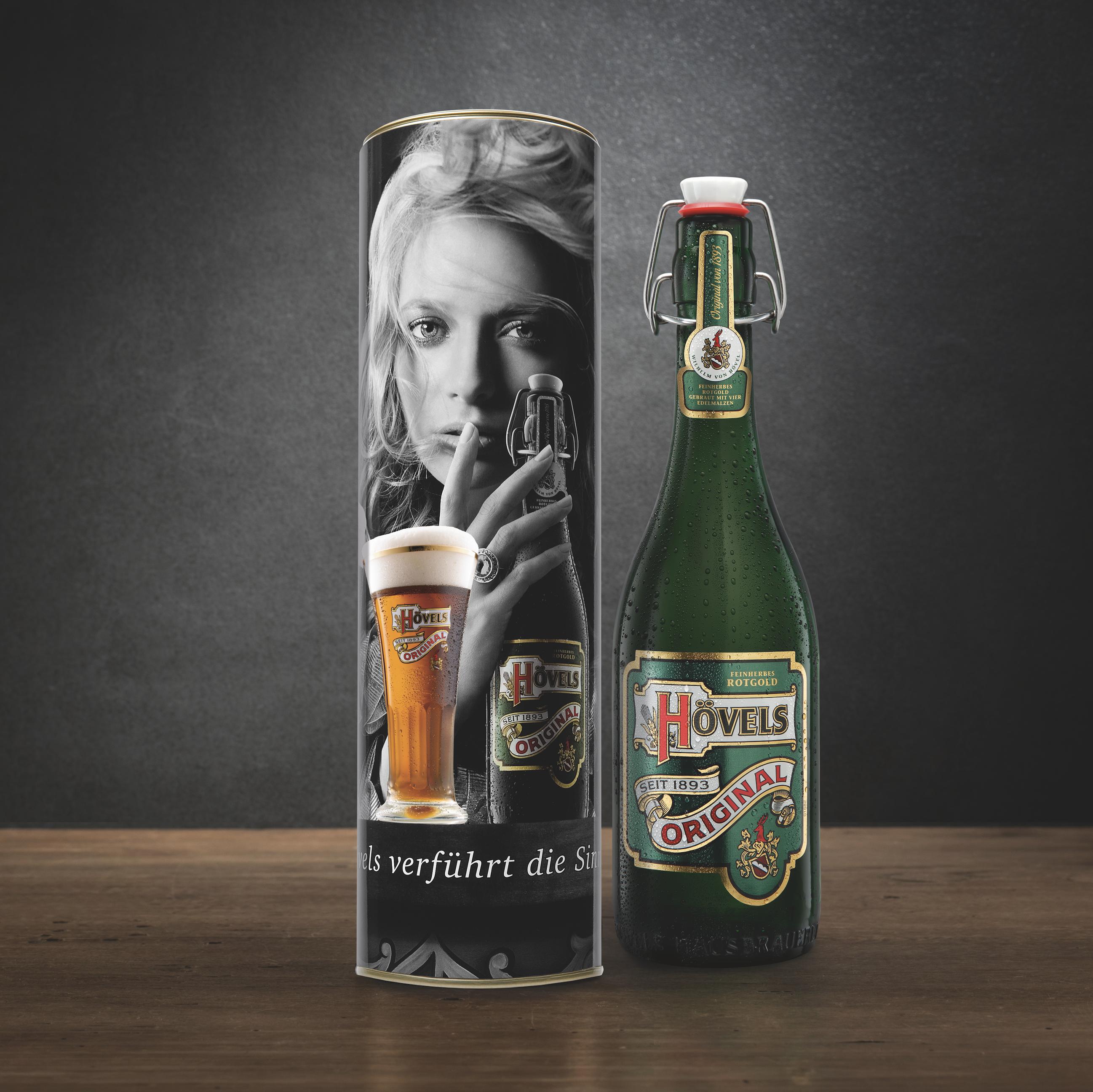 Hövels Original – Fanartikel Metalldose mit Bügelflasche kaufen (Hausbrauerei Dortmund)