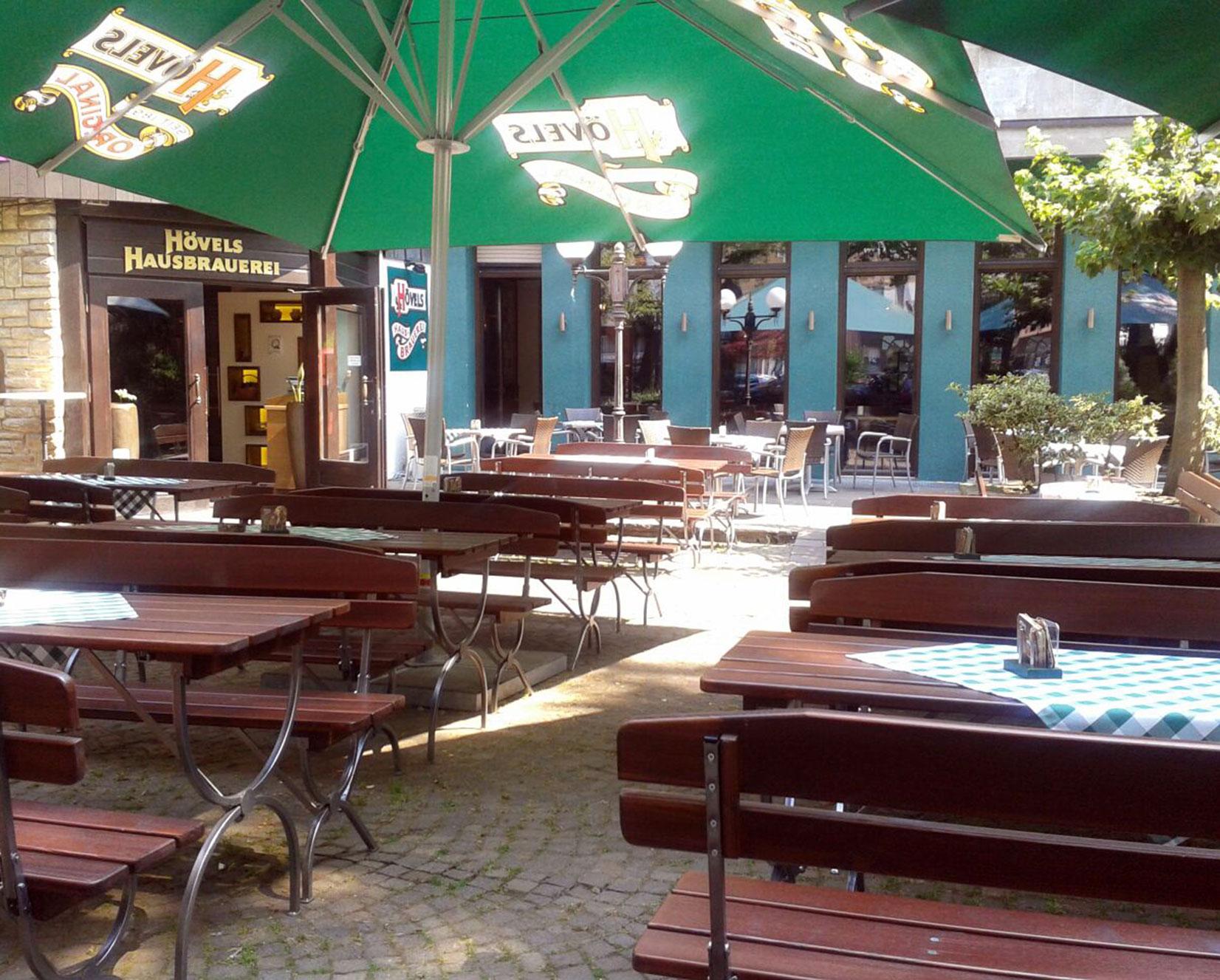 Biergarten Dortmunder Innenstadt - Hövels Hausbrauerei