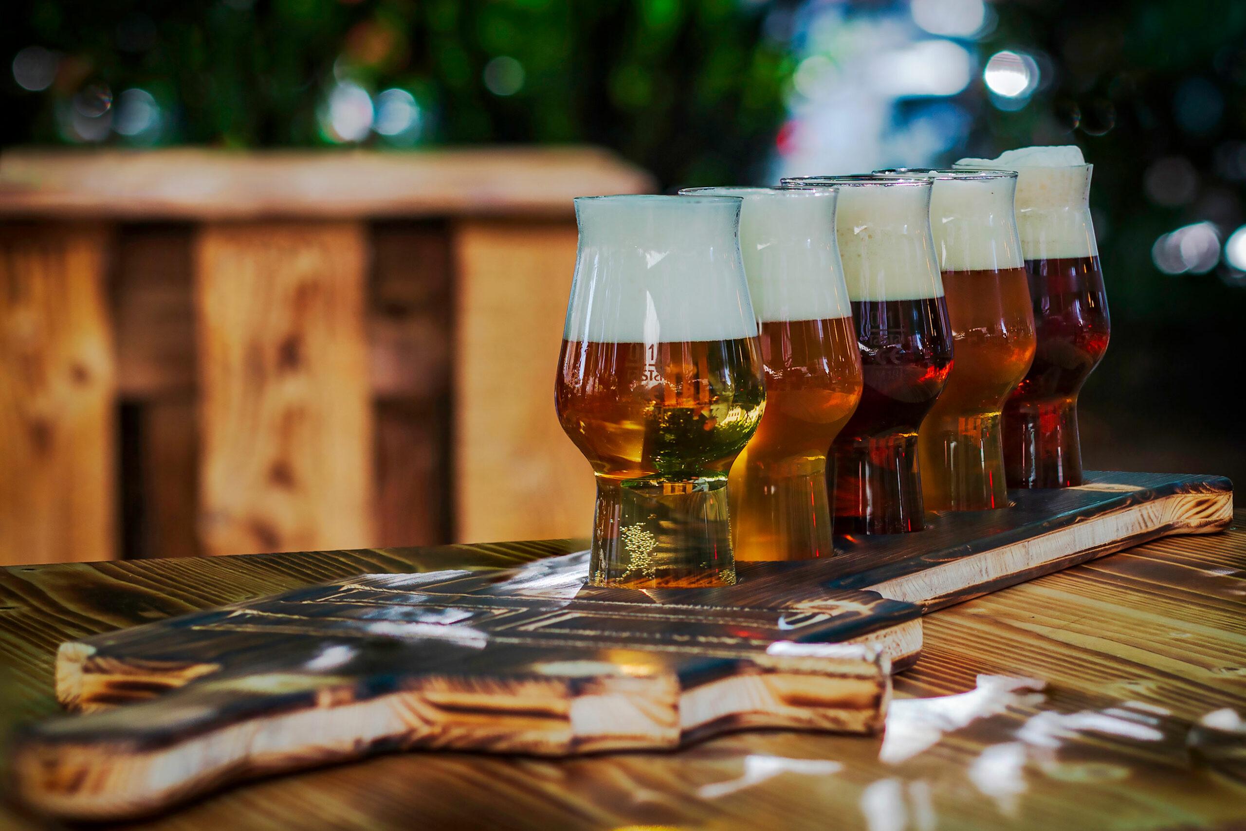 Bierverkostung (Biertasting) in der Hövels Hausbrauerei - Innenstadt Dortmund