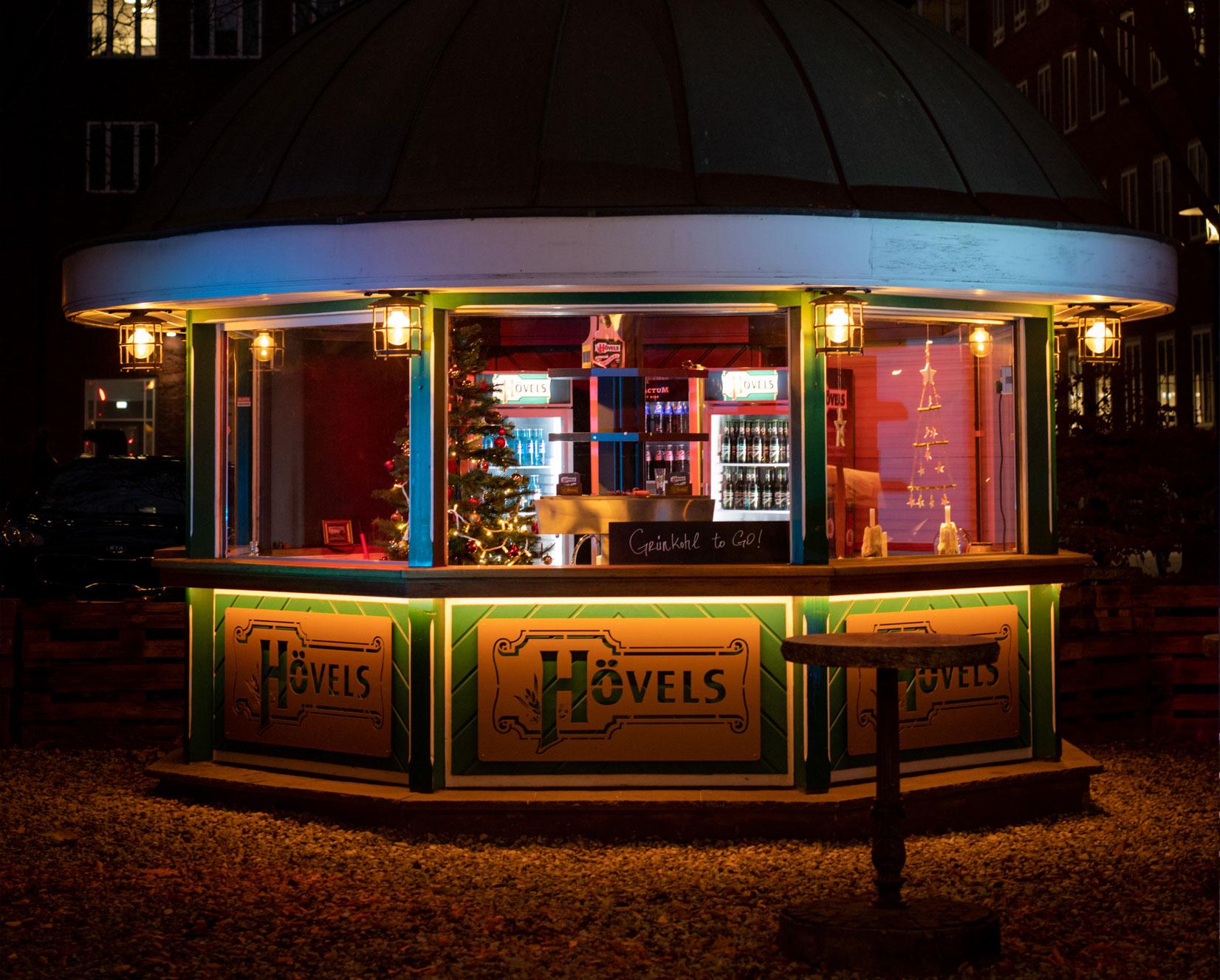 Pavillon Hövels Hausbrauerei Dortmund City (Ansicht bei Nacht)