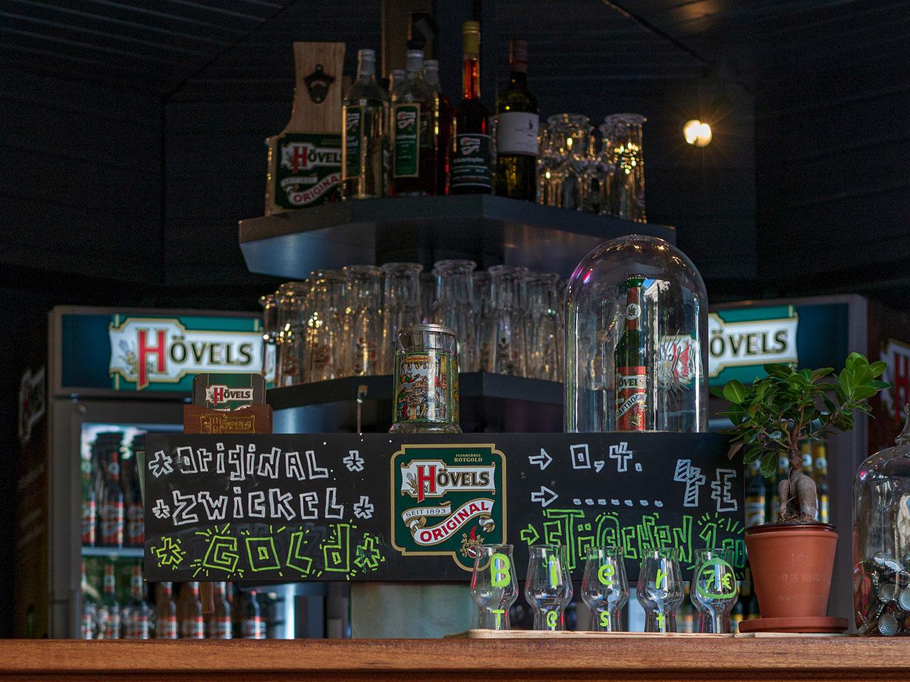 Biergarten mit Pavillon in der Dortmunder Innenstadt - Hövels Hausbrauerei