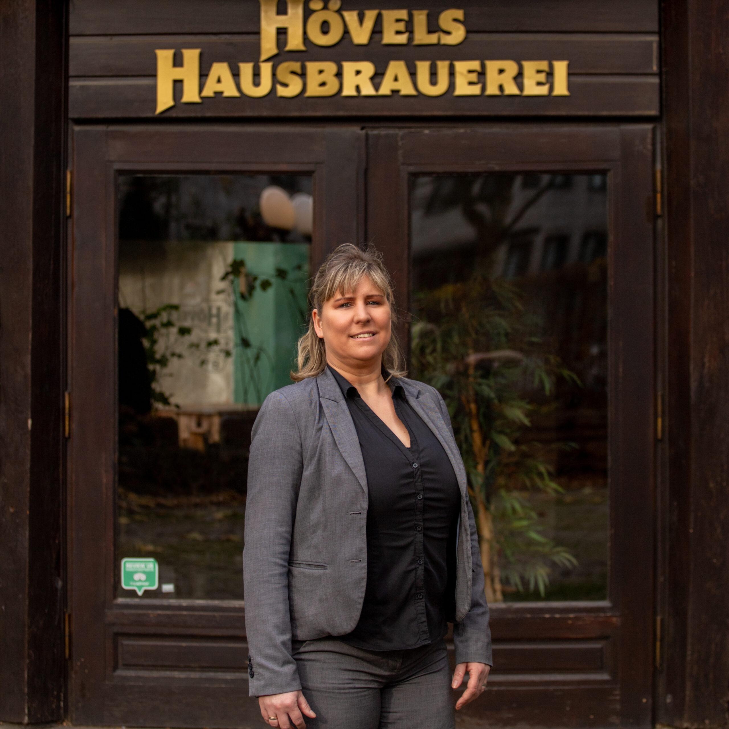 Hövels Hausbrauerei-Team: Dominique (Betriebsleitung)