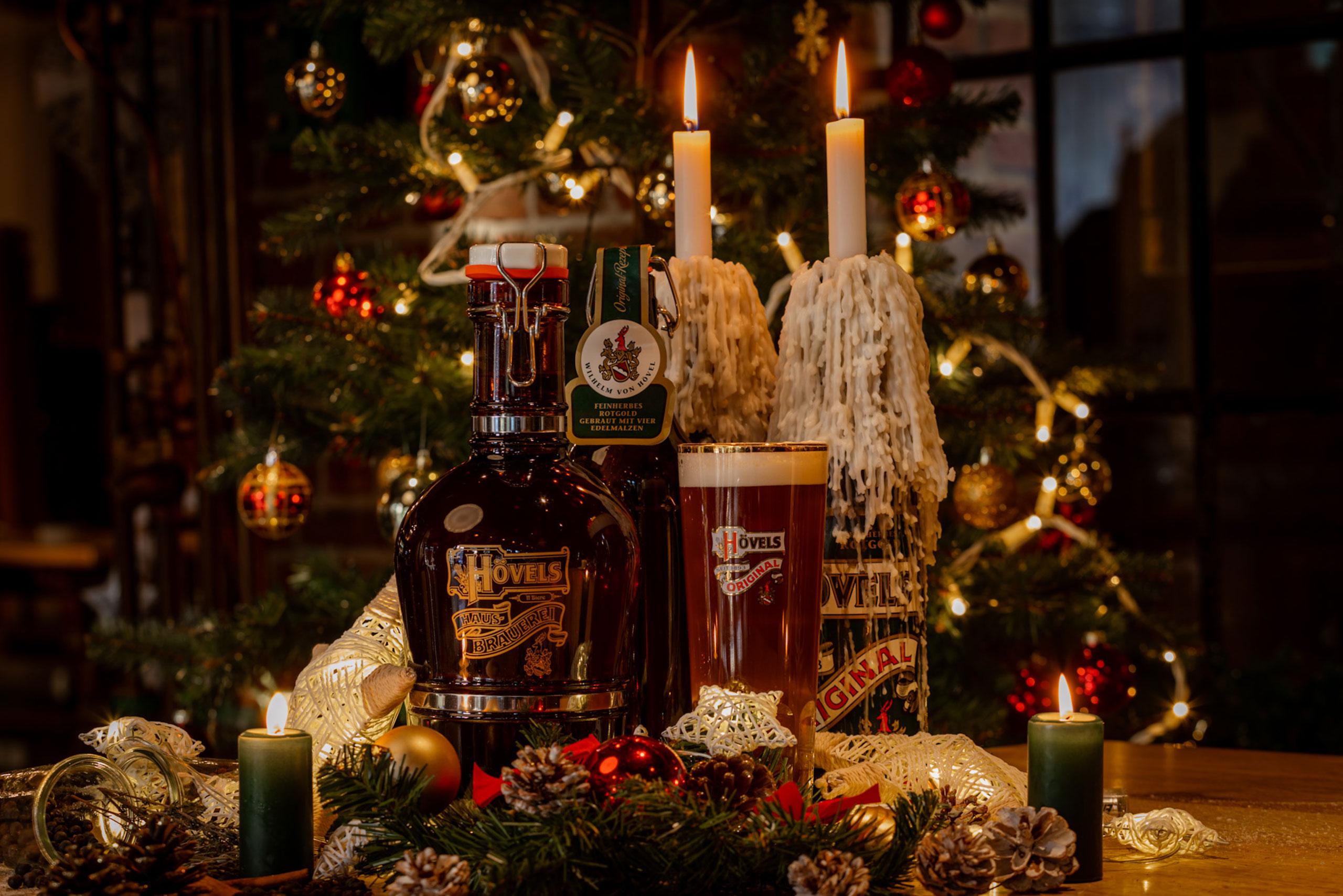 Hövels Weihnachtsstadtbier in der Hövels Hausbrauerei (Dortmund, Ruhrgebiet, NRW)